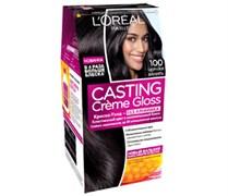 Л`Ореаль Краска для волос Кастинг 100 Черная ваниль
