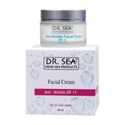 DOCTOR SEA Крем для лица ANTI - WRINKLE SPF15 от мрщин 50 мл