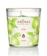 Aroma Harmony Свеча в стакане аромат.ЛАЙМ 160 гр
