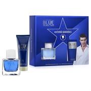 ANTONIO BANDERAS Blue Seduction  men set (50ml edt + 75ml a/sh balsam)
