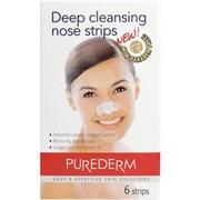 Pure Derm Полоски для глубокого очищения пор носа 6 шт