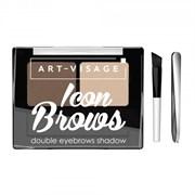 ART-VISAGE Тени для бровей двойные ICON BROWS 422 тон